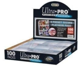 Ultra Pro 9-Pocket Platinum Pages 100-Pack