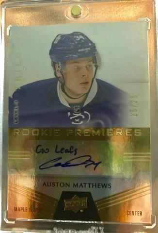 2016-17 Auston Matthews Trilogy Autograph Card