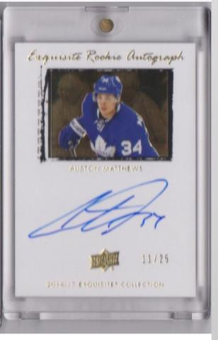 Auston Matthews Exquisite Rookie Autograph Throwback Card
