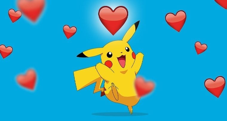Pikachu with hearts